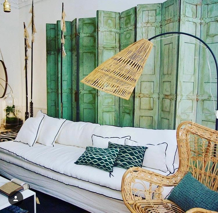 Canapé sur mesure lin lavé blanc neige Cannes et Valbonne Côte d'azur