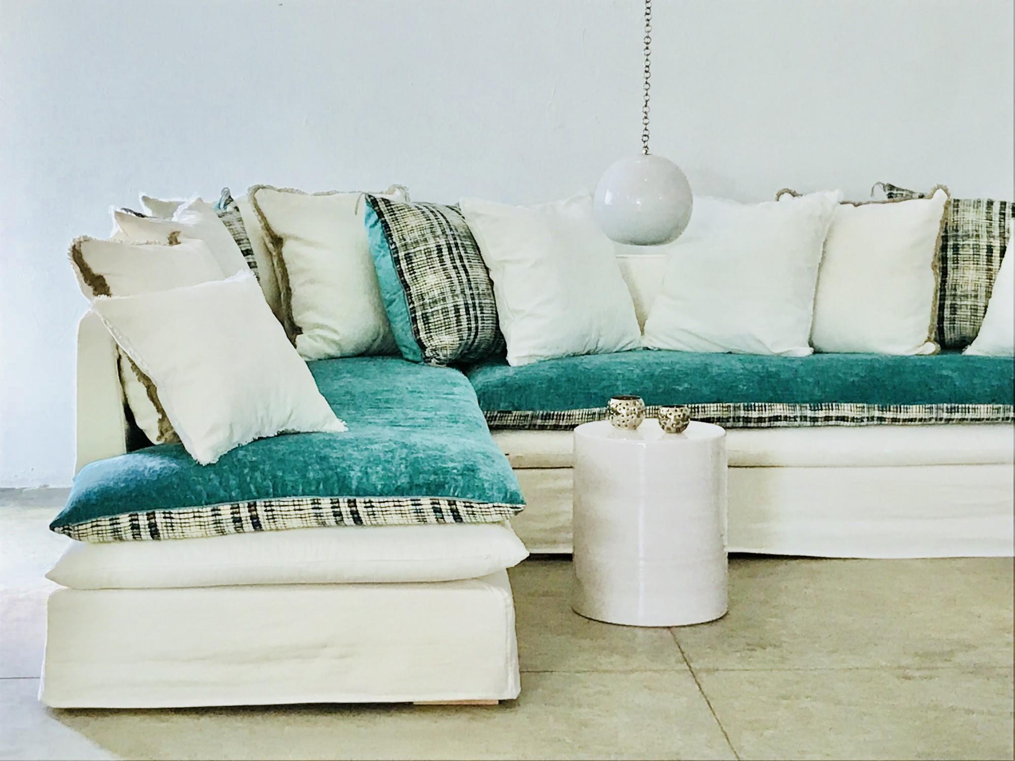 canapé sur mesure lin lavé blanc ivoire Paris