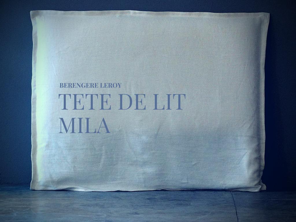 tête de lit sur mesure en lin lavé blanc Aix en Provence