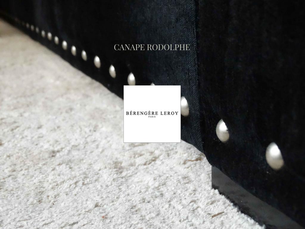 Canape en velours noir cloute rodolphe collections - Canape sur mesure en ligne ...