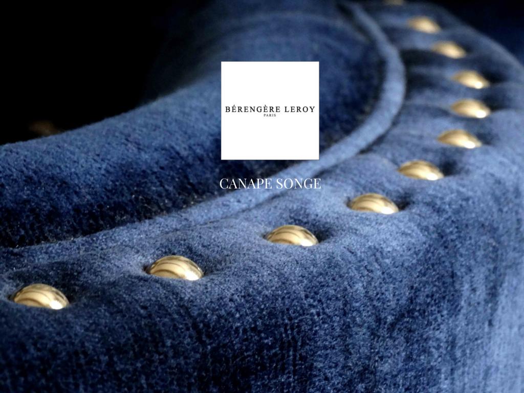 canapé en velours bleu Geneve