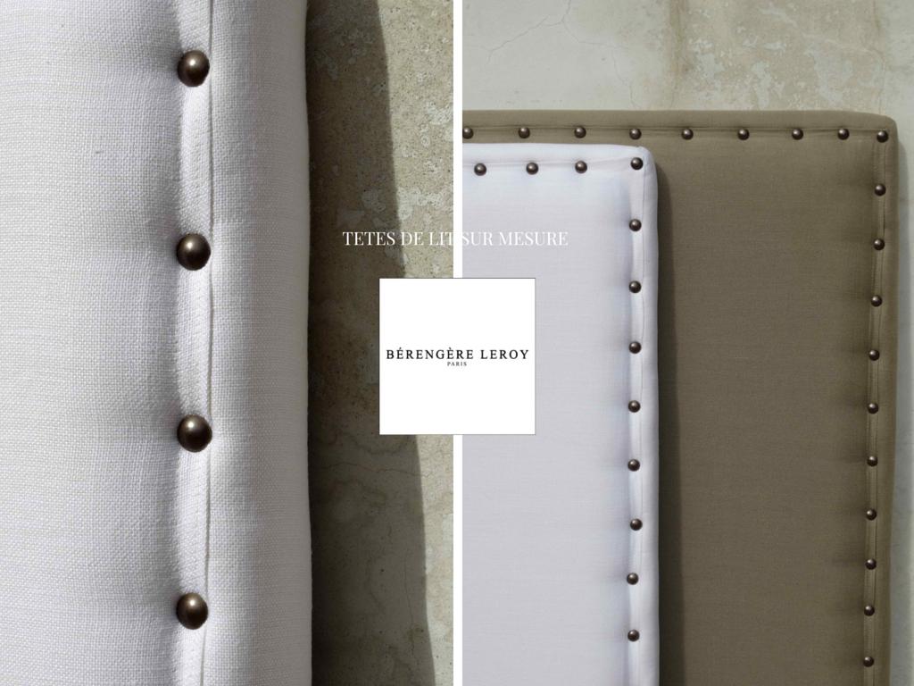 tête de lit sur mesure en lin blanc Geneve