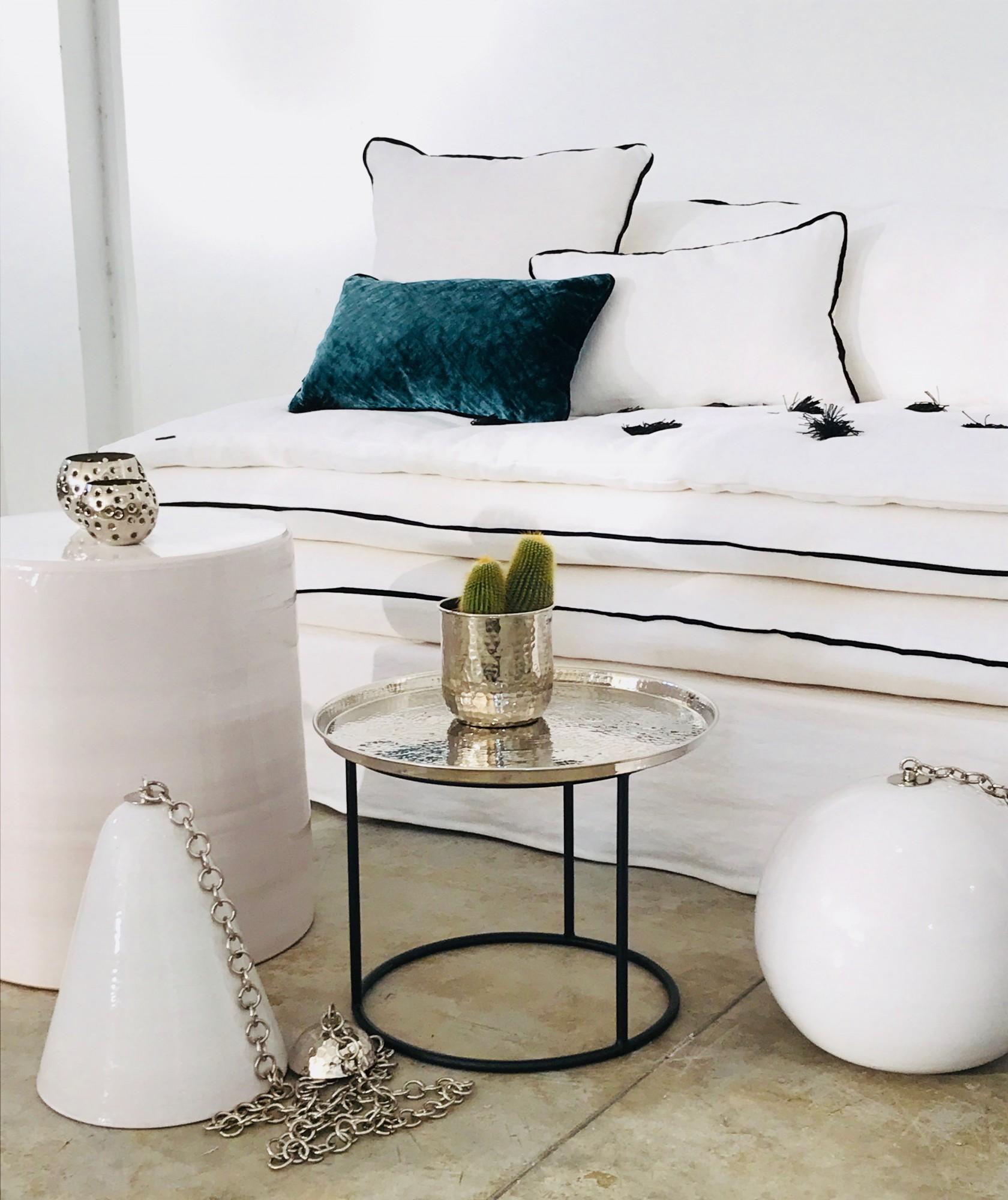 Canapé en lin lavé blanc Bruxelles