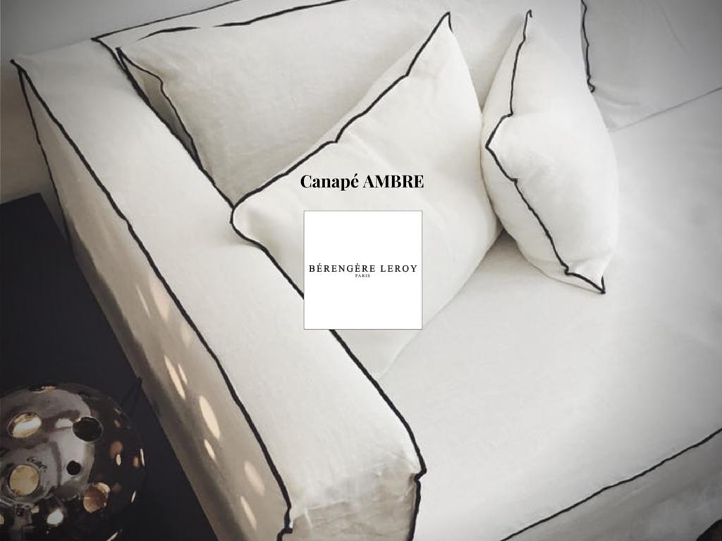 Canapé en lin lavé blanc Aix en Provence