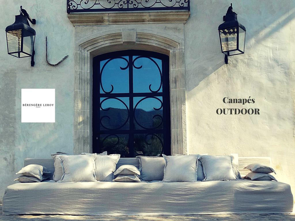 Canapé outdoor lin beige Alpilles
