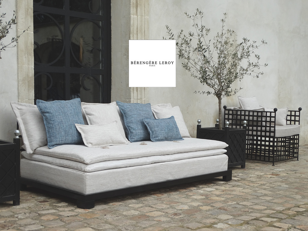 Outdoor sofas in Alpilles in Provence