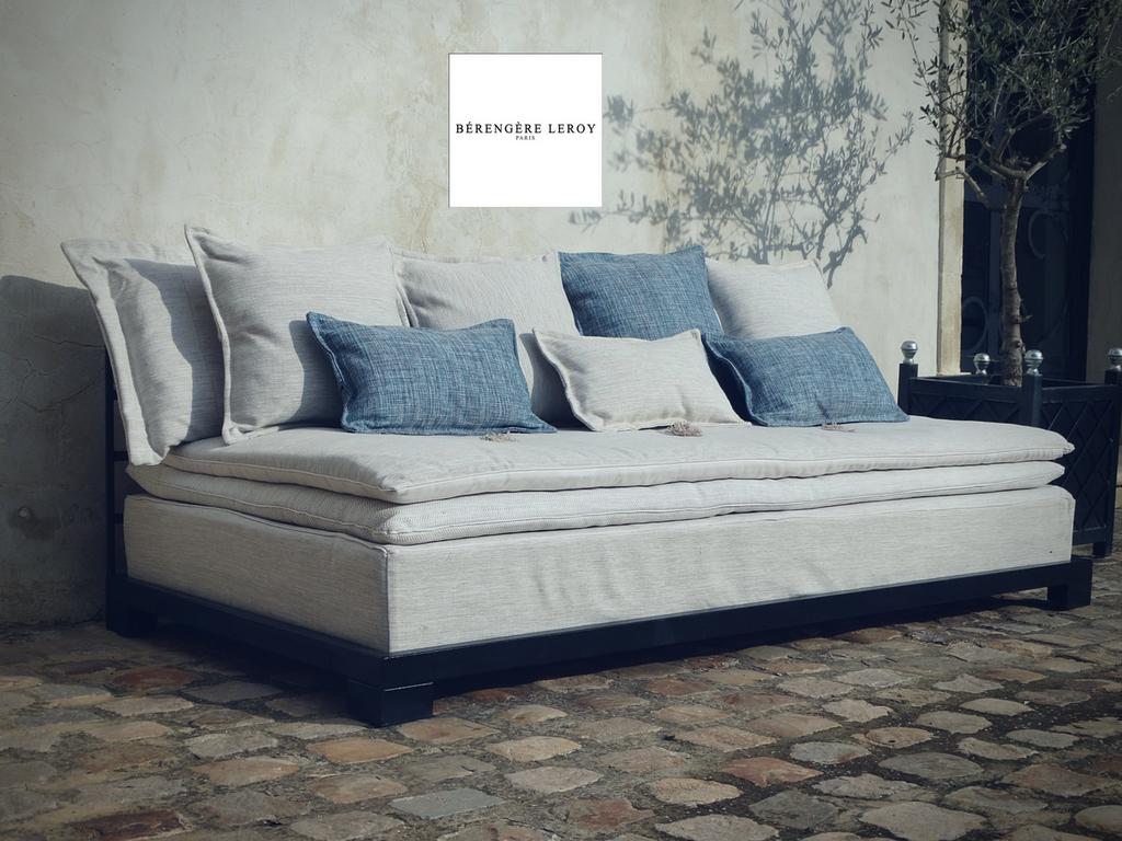 Canap s outdoor alpilles catalogue mobilier sur mesure for Sofa exterior leroy