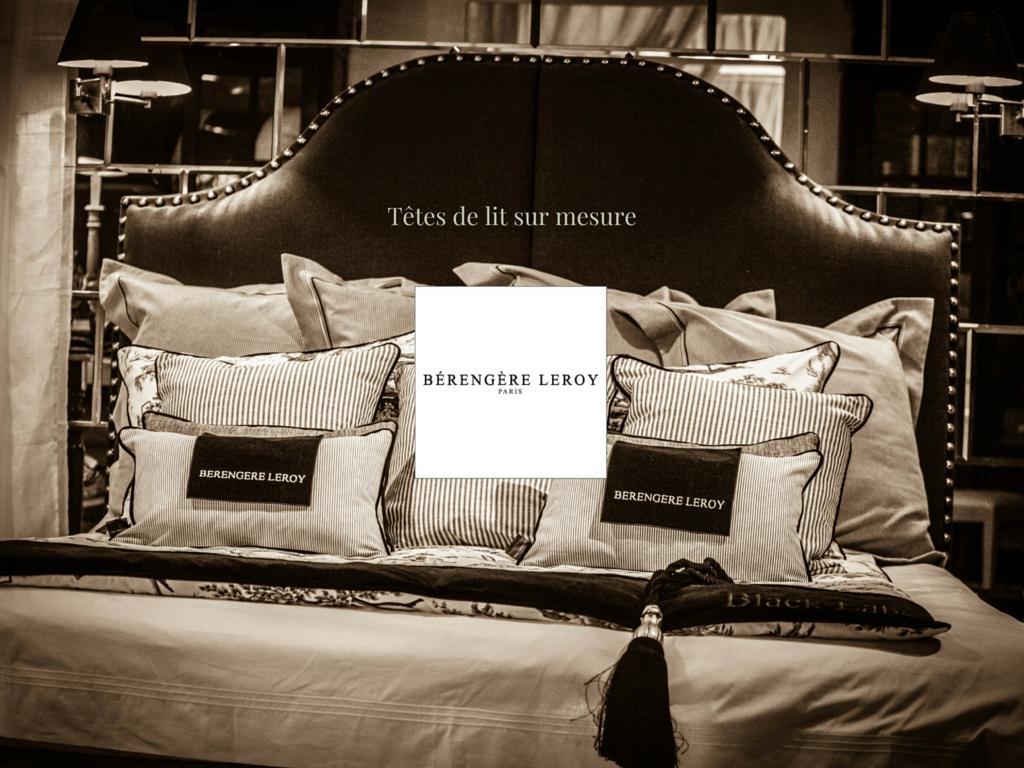 Tête de lit sur mesure cloutée en velours noir Marseille