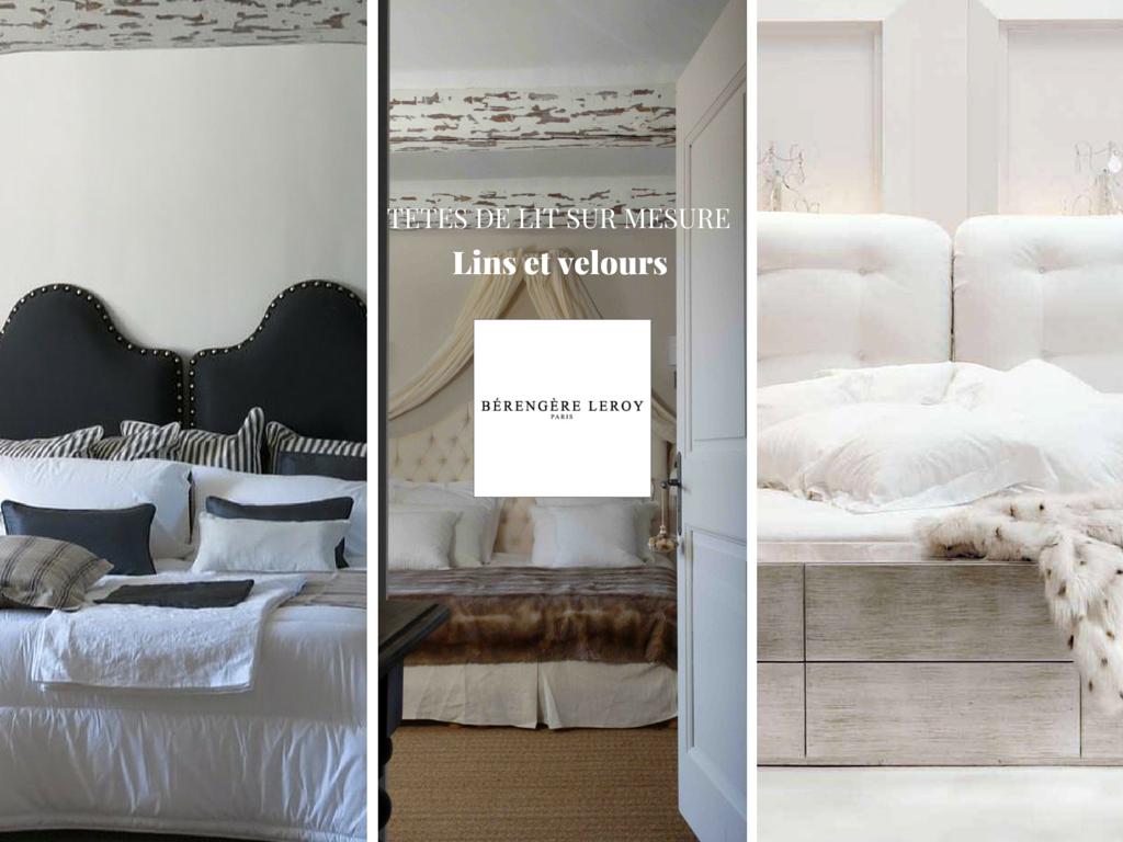 Tête de lit sur mesure passepoilée en velours blanc aix en provence