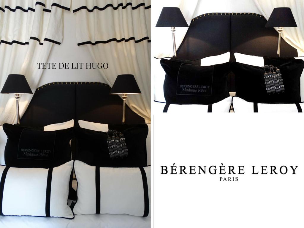 Tête de lit sur mesure cloutée en lin noir Belgique