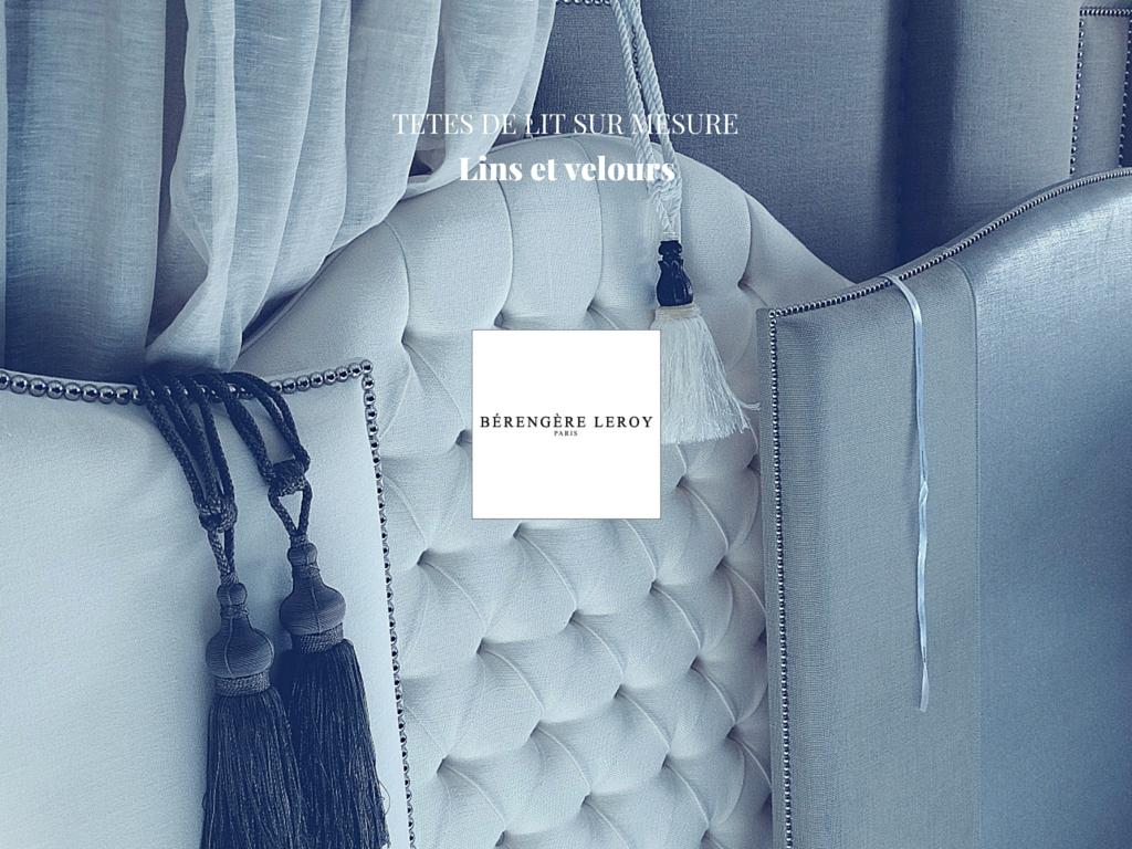 Tête de lit sur mesure capitonnée ou cloutée en lin Côte d'Azur