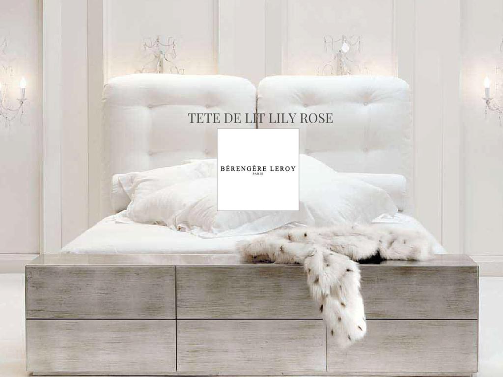 Tête de lit sur mesure capitonnée en velours blanc Côte d'Azur