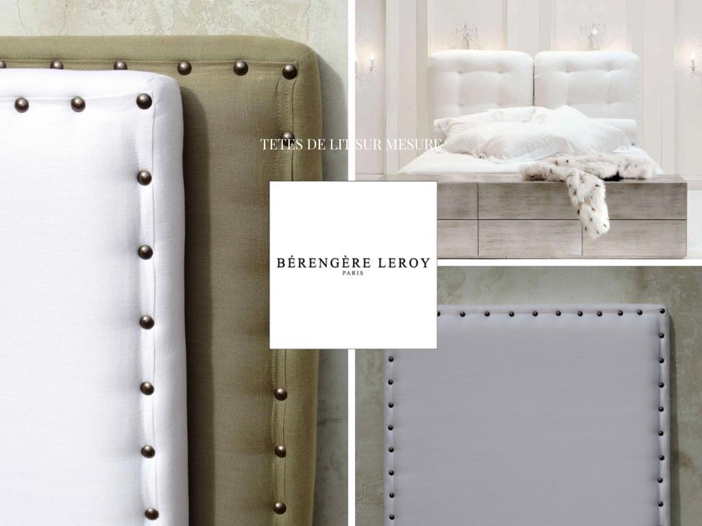 Fabricant de têtes de lit sur mesure en lin beige et lin blanc en Provence