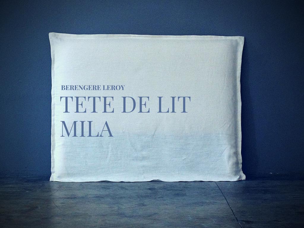 Tête de lit sur mesure en lin blanc à Lyon