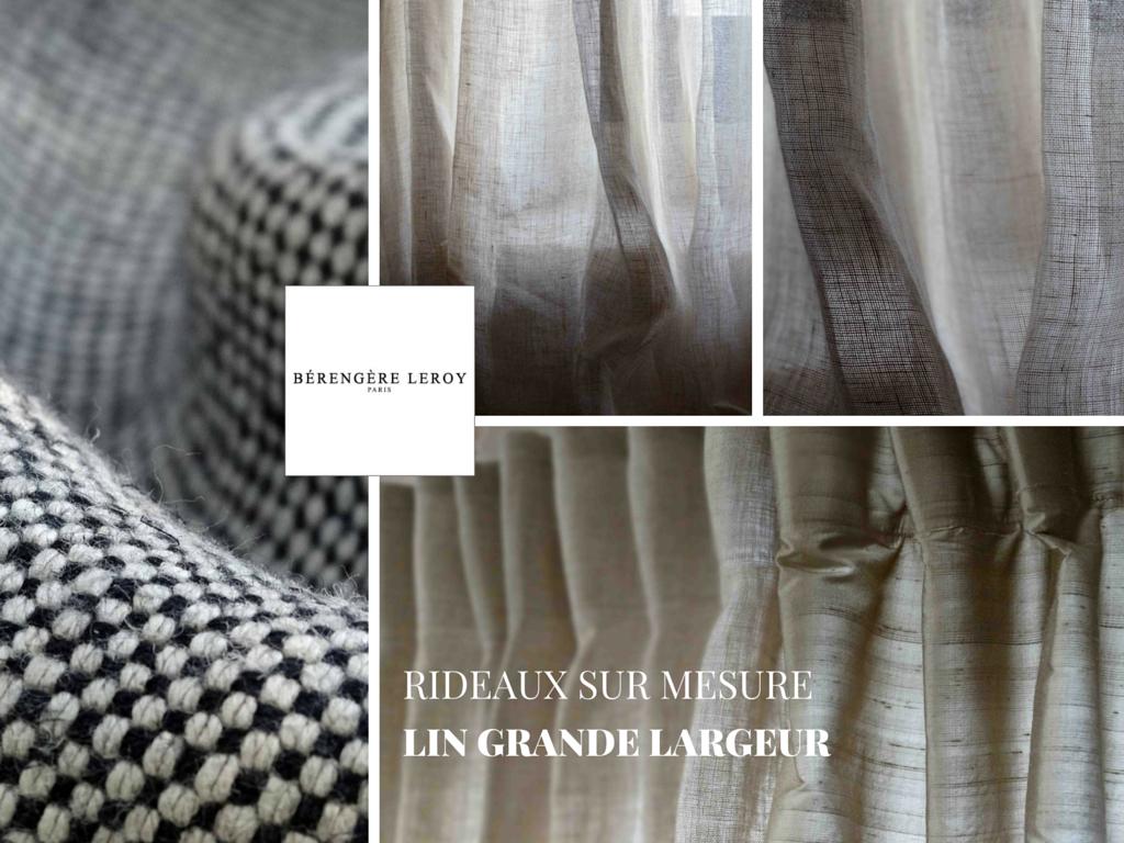 rideaux sur mesure en lin grande largeur paris catalogue mobilier sur mesure paris b reng re leroy. Black Bedroom Furniture Sets. Home Design Ideas