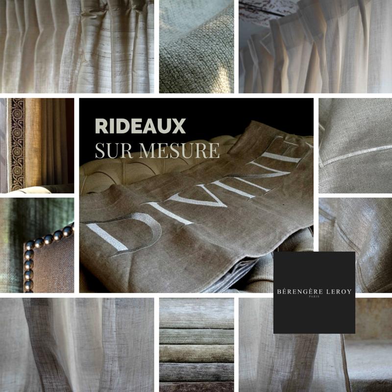 Rideaux sur mesure grande largeur en lin naturel à Paris