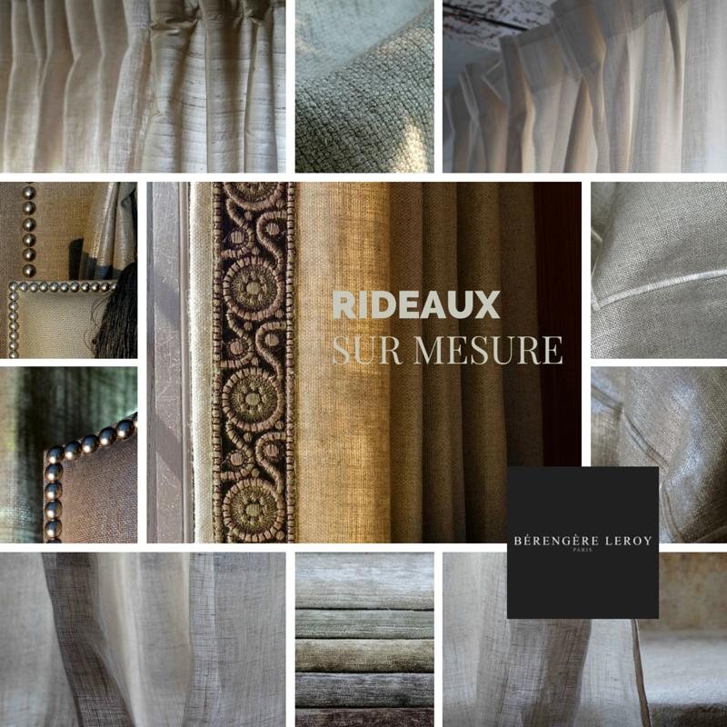 Rideaux sur mesure grande largeur 300 cm en lin écru à Paris