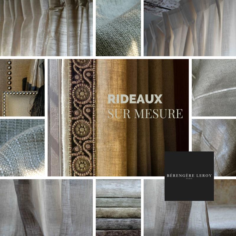 Rideaux sur mesure grande largeur en lin naturel et blanc à Paris