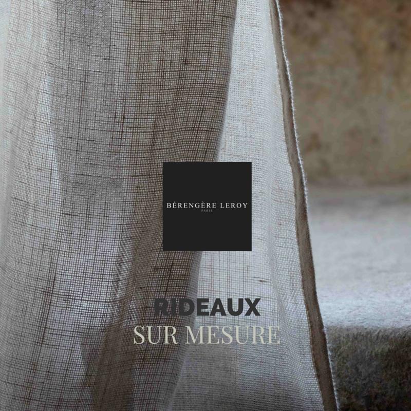 Rideaux sur mesure grande largeur 300 cm lin écru à Paris