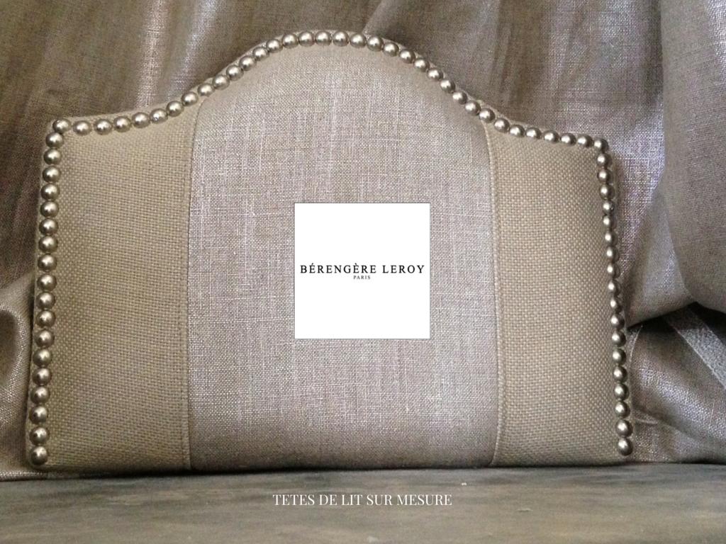 tête de lit sur mesure en lin beige argenté