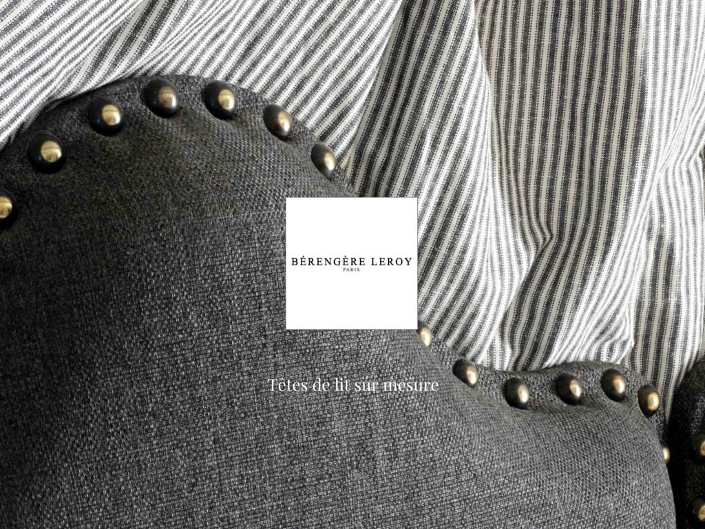 tête de lit sur mesure en lin gris