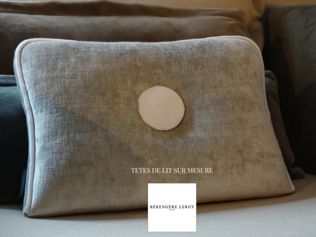 tête de lit sur mesure en velours gris l'isle sur la sorgue