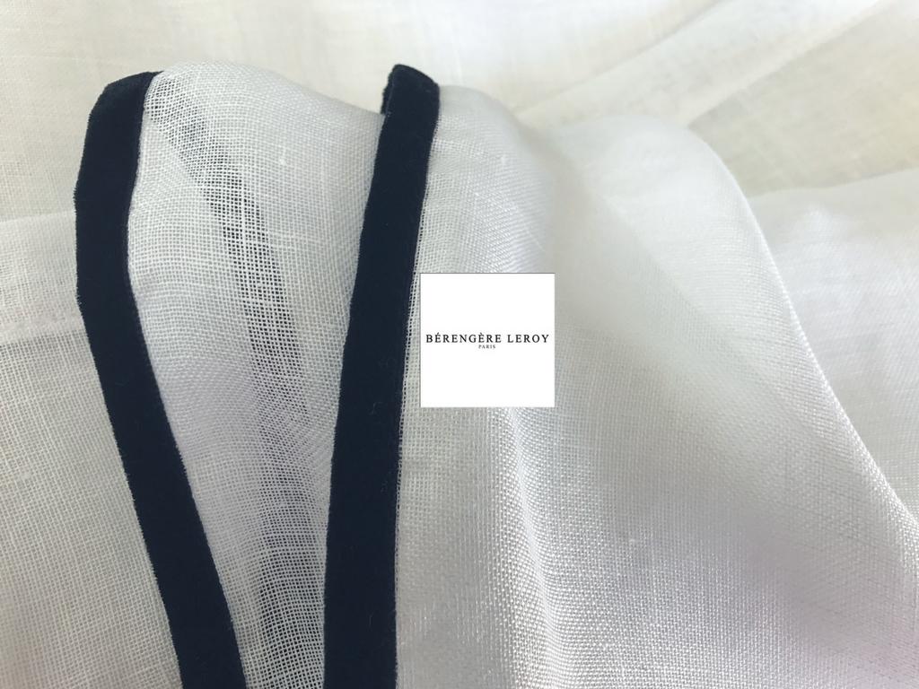 rideaux sur mesure voile de lin blanc grande largeur Paris