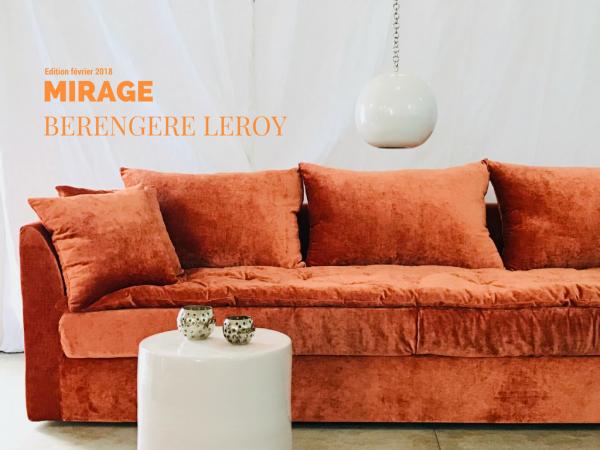Canapé sur mesure velours orange brique L'isle Sur La Sorgue