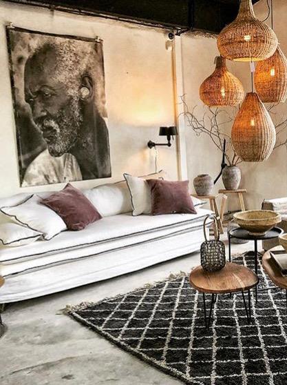 Canapé sur mesure en lin lavé beige écru à Bordeaux