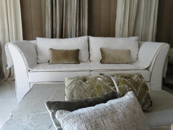 canapé en lin lavé ivoire Paris