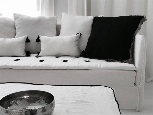 canapé lin lavé blanc Geneve