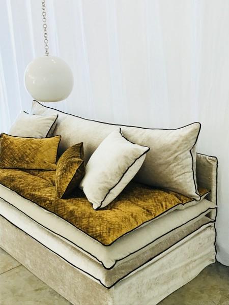 Canapé sur mesure beige écru Paris