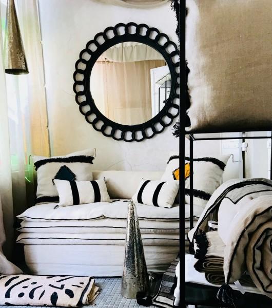 canapé sur mesure lin lavé beige ficelle Saint Tropez