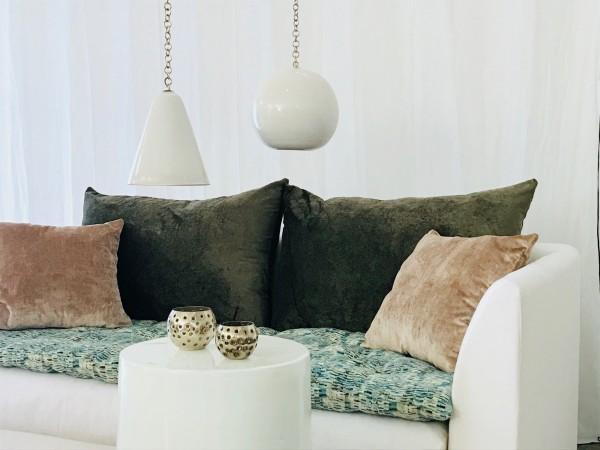 canapé sur mesure lin lavé blanc Paris