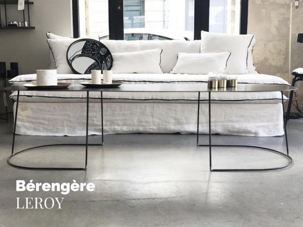 canapé sur mesure en lin lavé beige ivoire à Lyon