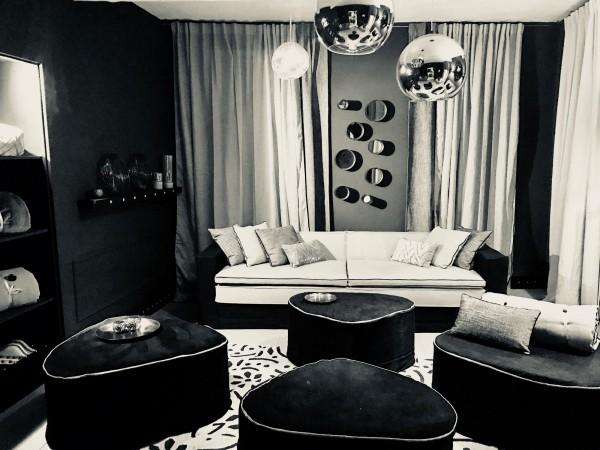 canapé sur mesure LEO lin lavé noir Lyon