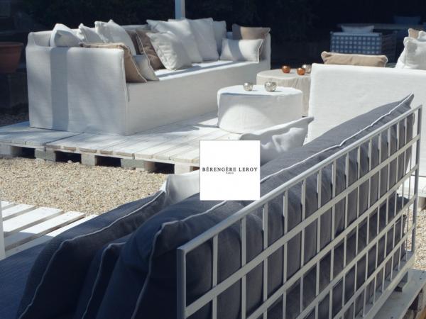 canapé sur mesure outdoor blanc Avignon