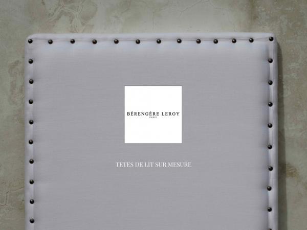 Fabrication de têtes de lit sur mesure cloutées en lin blanc à Paris