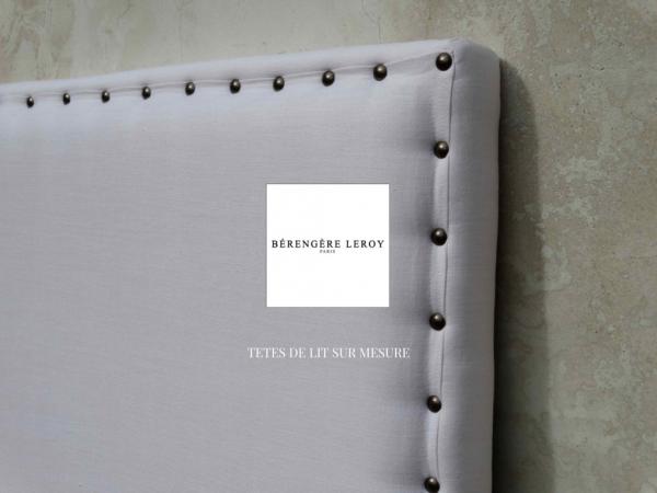 Tête de lit sur mesure en lin blanc saint tropez