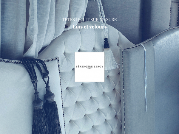 Tête de lit sur mesure capitonnée ou cloutée en lin blanc Genève