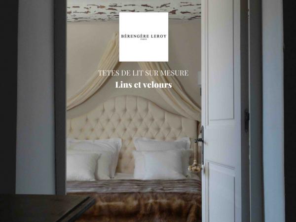 Tête de lit sur mesure capitonnée en lin blanc crême à Strasbourg