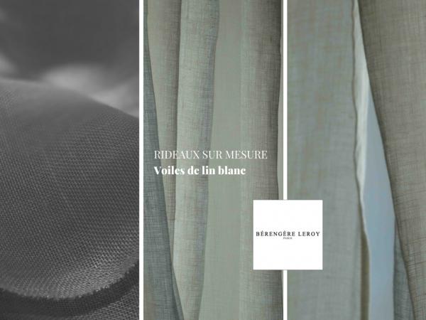 rideaux sur mesure en voile de lin blanc catalogue mobilier sur mesure paris b reng re leroy. Black Bedroom Furniture Sets. Home Design Ideas
