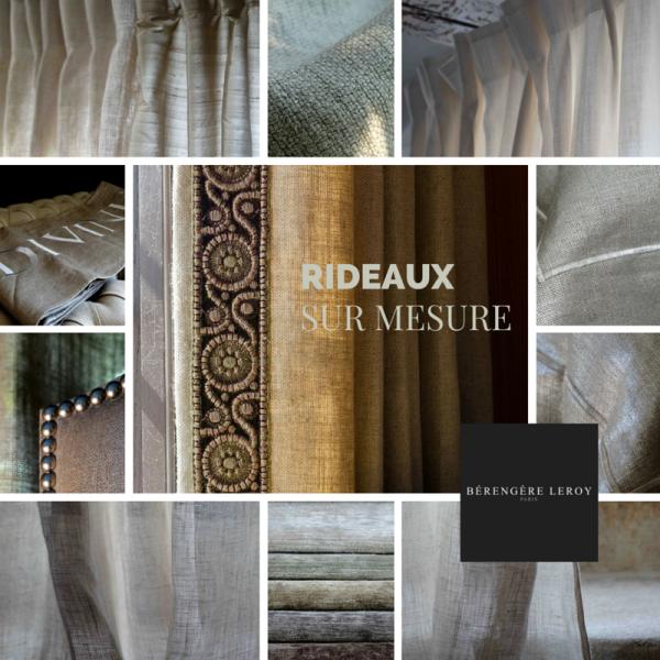 Rideaux sur mesure grande largeur 300 cm en lin naturel à Paris
