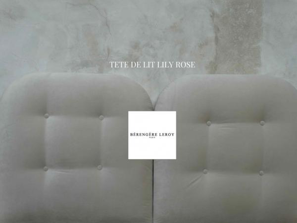 Tête de lit sur mesure capitonnée en velours ivoire Lyon